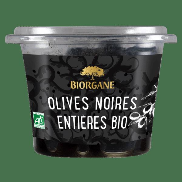 Olives noires entières bio natures Biorgane