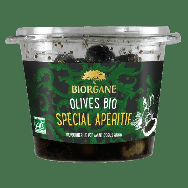 Olives entières bio spécial apéritif Biorgane